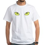 Halloween Cat's Eye White T-Shirt