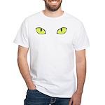Halloween Cat's Eye White T-Shirt