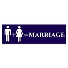 Support Marriage Bumper Bumper Sticker