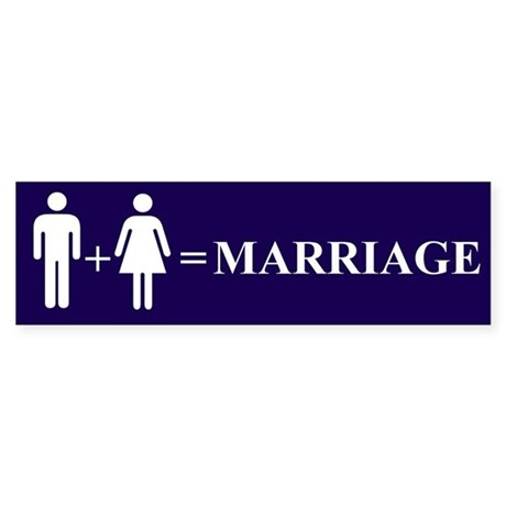 Support Marriage Bumper Sticker