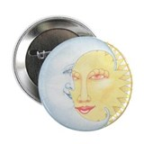 Moon &amp;amp; Sun Smiles 2.25&amp;quot; Button