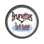 Brunettes Wall Clock