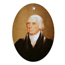 James Madison Christmas Ornament