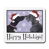 Eve & Levi Gibson Christmas Kiss Mousepad