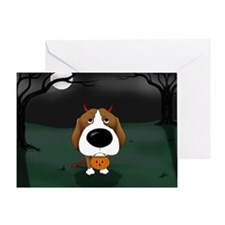 Beagle Devil Halloween Greeting Card