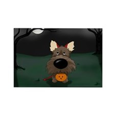 Cairn Devil Halloween Rectangle Magnet (10 pack)