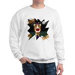 Collie Clown Halloween Sweatshirt