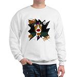 Collie Clown Halloween Sweatshirt