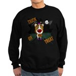 Collie Clown Halloween Sweatshirt (dark)