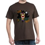 Collie Clown Halloween Dark T-Shirt