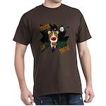Collie Clown Halloween Dark T-Shirt