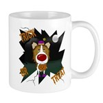Collie Clown Halloween Mug