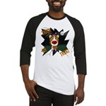 Collie Clown Halloween Baseball Jersey
