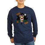 Collie Clown Halloween Long Sleeve Dark T-Shirt