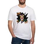 Collie Clown Halloween Fitted T-Shirt