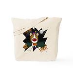 Collie Clown Halloween Tote Bag