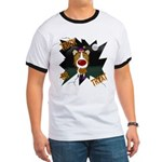 Collie Clown Halloween Ringer T