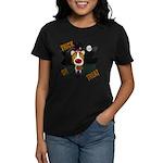 Collie Clown Halloween Women's Dark T-Shirt