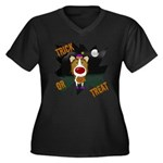 Collie Clown Halloween Women's Plus Size V-Neck Da