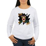 Collie Clown Halloween Women's Long Sleeve T-Shirt