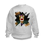 Collie Clown Halloween Kids Sweatshirt
