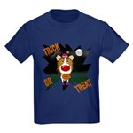 Collie Clown Halloween Kids Dark T-Shirt