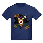 Collie Clown Halloween Kids Dark T-Shirt