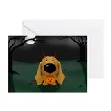 Dachshund Devil Halloween Greeting Cards (Pk of 10