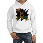 Irish Terrier Devil Halloween Hooded Sweatshirt