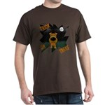 Irish Terrier Devil Halloween Dark T-Shirt