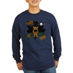 Irish Terrier Devil Halloween Long Sleeve Dark T-S