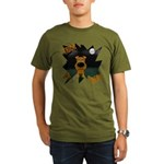 Irish Terrier Devil Halloween Organic Men's T-Shir