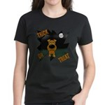 Irish Terrier Devil Halloween Women's Dark T-Shirt
