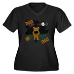 Irish Terrier Devil Halloween Women's Plus Size V-