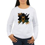 Irish Terrier Devil Halloween Women's Long Sleeve