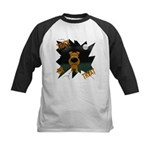 Irish Terrier Devil Halloween Kids Baseball Jersey
