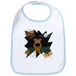 Irish Terrier Devil Halloween Bib