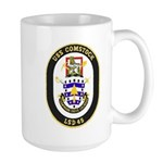 USS Comstock LSD 45 US Navy Ship Large Mug