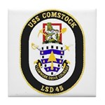 USS Comstock LSD 45 US Navy Ship Tile Coaster