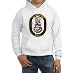 USS Comstock LSD 45 US Navy Ship Hooded Sweatshirt