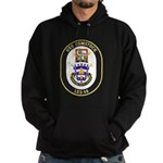 USS Comstock LSD 45 US Navy Ship Hoodie (dark)