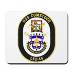 USS Comstock LSD 45 US Navy Ship Mousepad