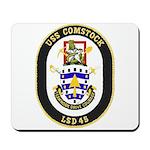 USS Comstock LSD 45 US Navy Ship Mousepad