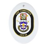 USS Comstock LSD 45 US Navy Ship Oval Ornament