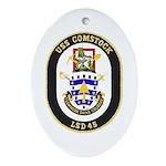 USS Comstock LSD 45 US Navy Ship Oval Ornament