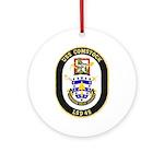 USS Comstock LSD 45 US Navy Ship Ornament (Round)