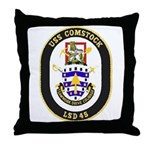USS Comstock LSD 45 US Navy Ship Throw Pillow