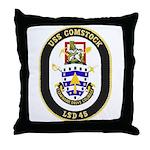 USS Comstock LSD 45 US Navy Ship Throw Pillow