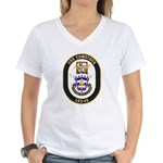 USS Comstock LSD 45 US Navy Ship Women's V-Neck T-