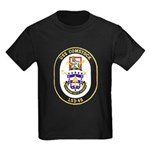 USS Comstock LSD 45 US Navy Ship Kids Dark T-Shirt